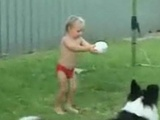 Little Boy Can't Figure Out How To Kick a Ball