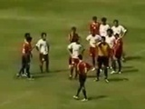 Referee Gets Chased By Players