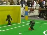 Awesome Save By Soccer Football Robot