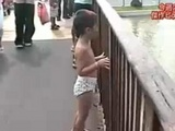 Boy Gets Knocked By Water Ride