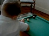 23 Month Old Pool Shark