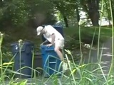 Hilarious Garbage Man Prank