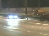 Car Runs Into Wandering Horse On The Highway