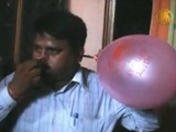 Indian Man Blows Balloons With His Ears
