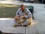 Dog Goes Nutso When Soldier Comes Home