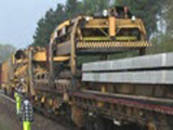 Ever See A Train Lay Its Own Track?