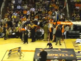 Boy Dunks Himself At Halftime