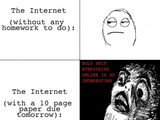 The Internet - With Vs Without Homework
