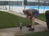 Diet Coke And Mentos Gone Wrong!