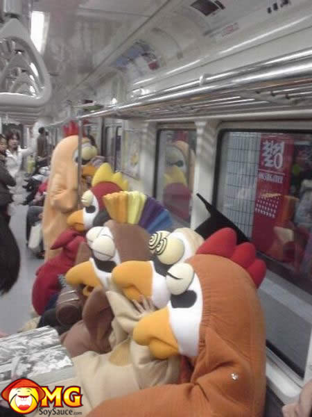 funny-subway-train-pictures-pics-chicken-mascots