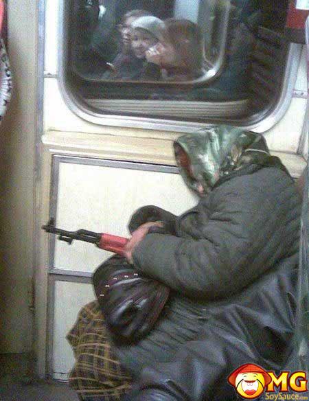 funny-subway-train-pictures-pics-grandma-gun