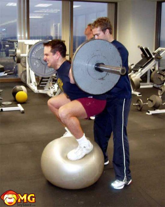 squats-on-a-medicine-ball