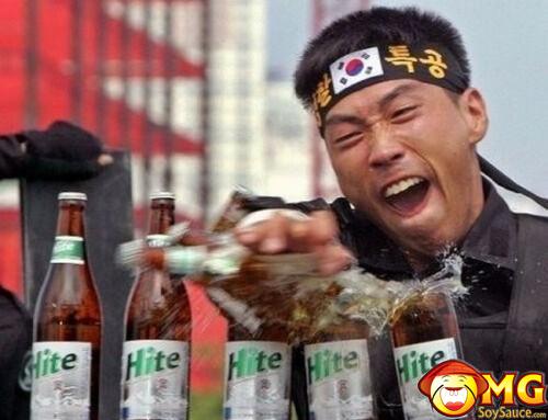 asian-karate-chop-beer-bottles