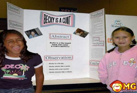 becky-is-a-cunt-funny-school-projects