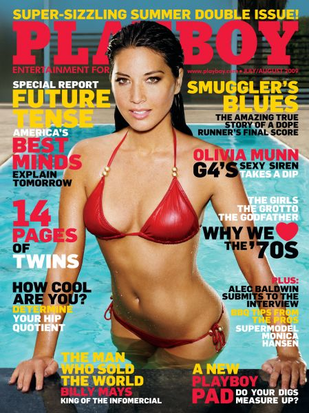 olivia munn playboy july august cover