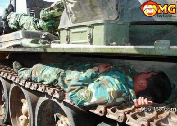soldier-sleeping-on-wheel