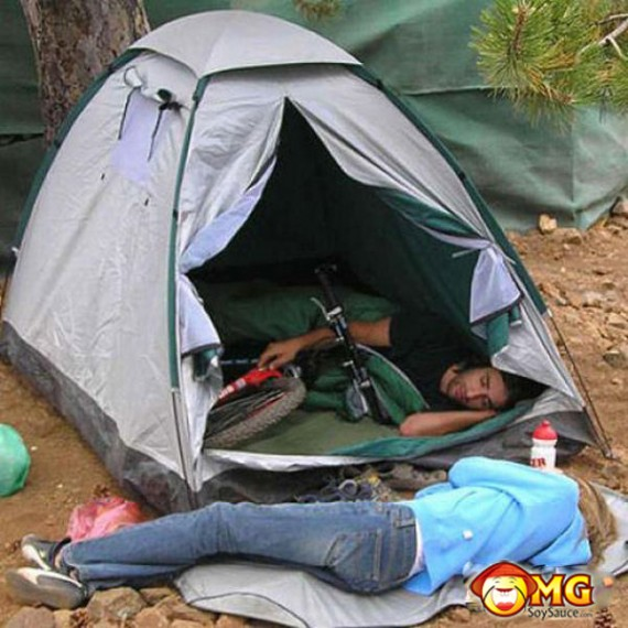 funny-gf-camp-outside-tent