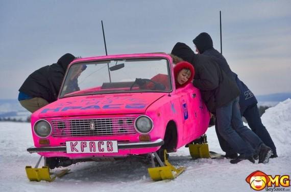 pink-ski-mobile