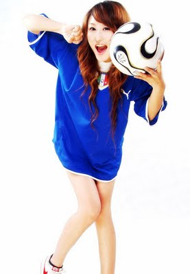 playing Sexy soccer girls asian