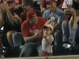 Little Girl Tosses Back Foul Ball