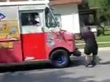 Dancing Dude Gets Hit By Ice Cream Trunk