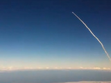 Space Shuttle Launch Viewed From Airplane